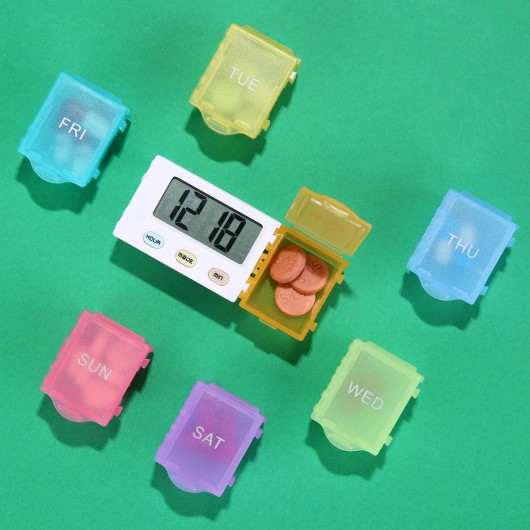 CR-215  5 Alarm Pill Box Organizer  (7-Days)