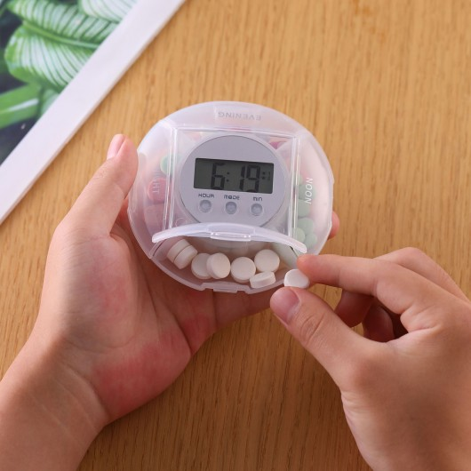CR-219  5 Alarm Pill Box Organizer with back light (1-Day)