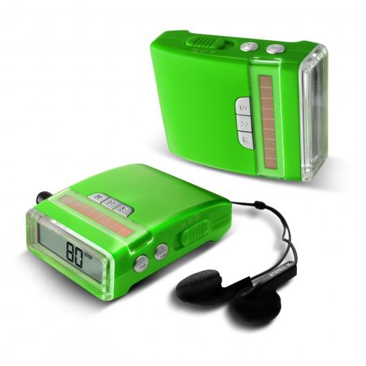 CR-568  FM Radio Solar Pedometer