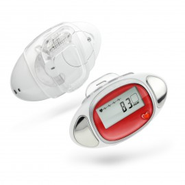"""CR-715  """"Cardio"""" 3D Pedometer with Pulse Reader"""