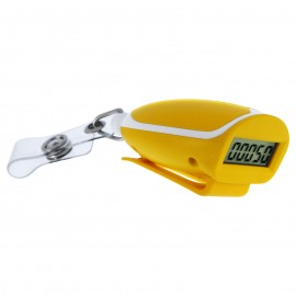 CR-788  Pedometer with RETRACTABLE ID holder